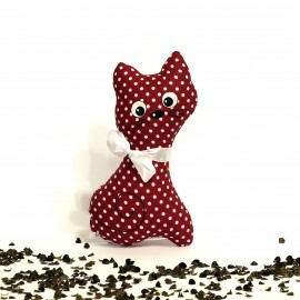 Pohanková kočička bordó puntík malá