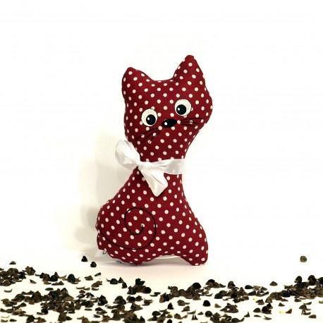 Pohánková mačička bordó puntík malá