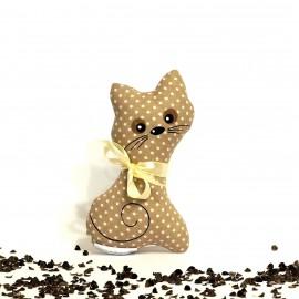 Pohanková kočička béžový puntík malá