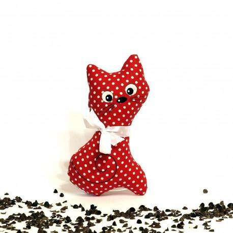 Pohanková kočička červený puntík malá
