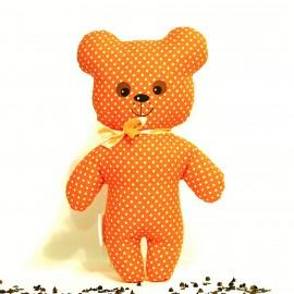 Pohankový medvídek oranžový puntík