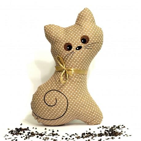 Pohanková kočička béžový puntík
