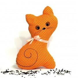 Pohanková kočička oranžový puntík