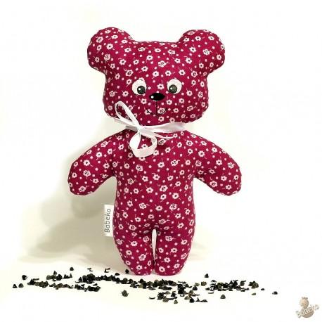 Pohankový medvídek malinový květ