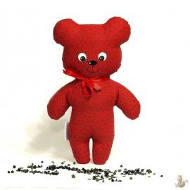 Pohankový medvídek červený květ