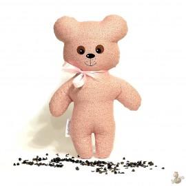 Pohankový medvídek růžový květ
