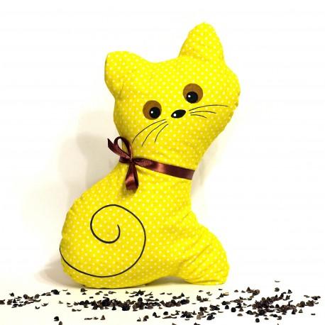 Pohanková kočička žlutý puntík