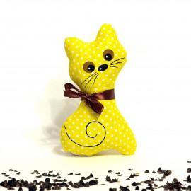 Pohanková kočička žlutý puntík malá