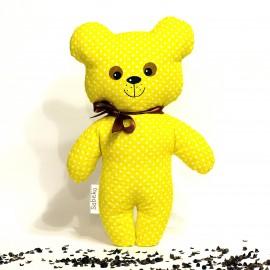 Pohánkový medvedík žltý puntík