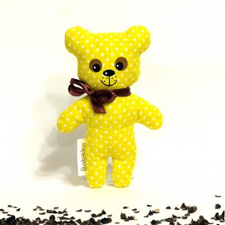 Pohánkový medvedík žltý puntík malý