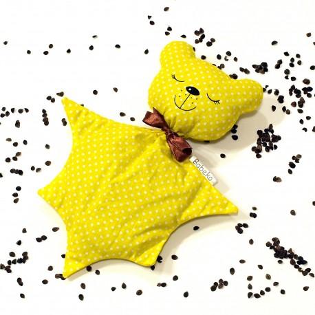 Pohankový usínáček medvídek žlutý puntík