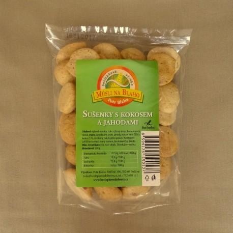Sušienky s kokosom a jahodami 130 g