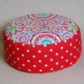 Pohankový meditační sedák 38 x 15 cm mandaly růžové