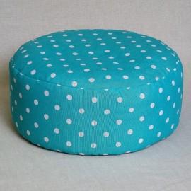 Pohankový meditační sedák 38 x 15 cm tyrkysový puntík