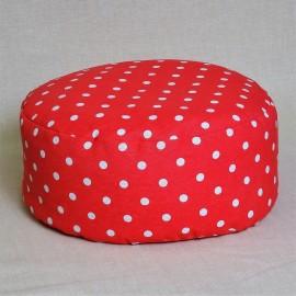 Pohankový meditační sedák 38 x 15 cm růžový puntík