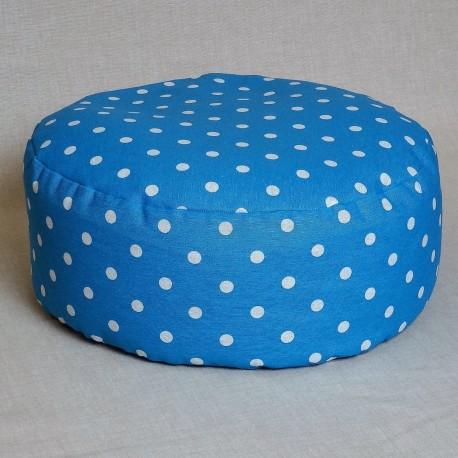 Pohankový meditační sedák 38 x 15 cm modrý puntík