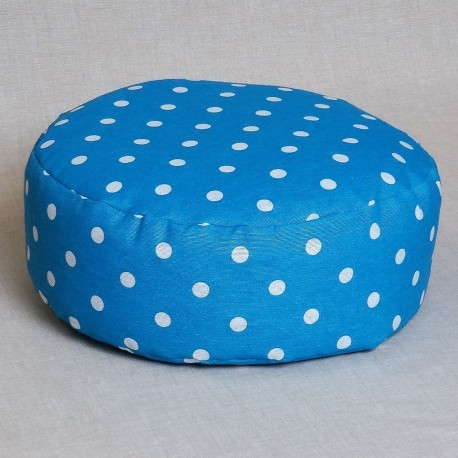 Pohankový meditační sedák 30 x 10 cm modrý puntík