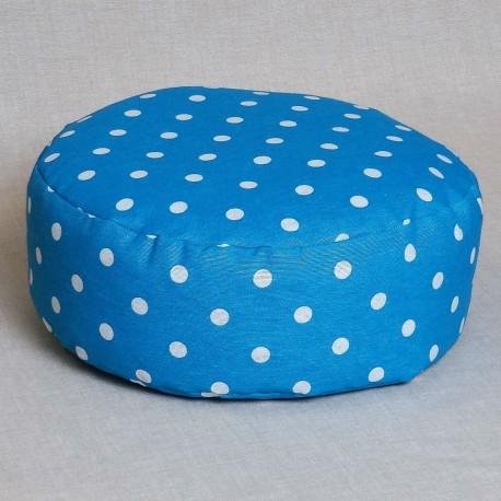 Pohánkový meditačný sedák 30 x 10 cm modrý puntík