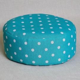 Pohankový meditační sedák 30 x 10 cm tyrkysový puntík