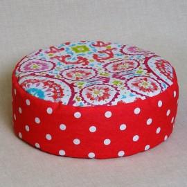 Pohánkový meditačný sedák 30 x 10 cm mandaly ružové