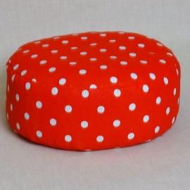 Pohankový meditační sedák 30 x 10 cm růžový puntík