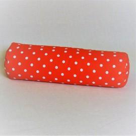Pohankový relaxační válec 15 x 50 cm červený puntík
