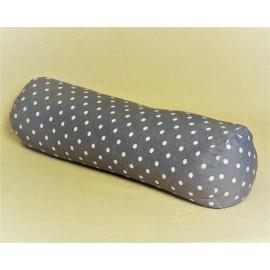 Pohankový relaxační válec 15 x 70 cm šedý puntík