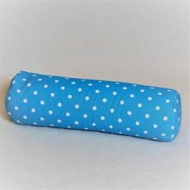 Pohankový relaxační válec 20 x 70 cm modrý puntík