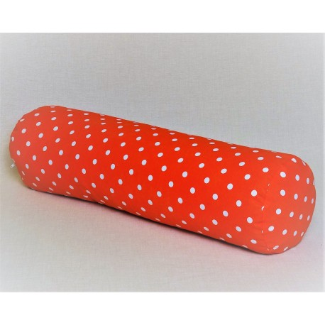 Pohankový relaxační válec 20 x 70 cm červený puntík