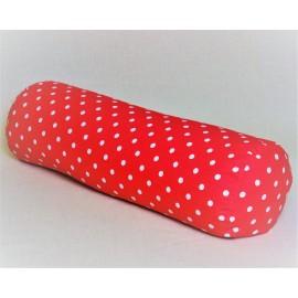 Pohankový relaxační válec 20 x 70 cm růžový puntík