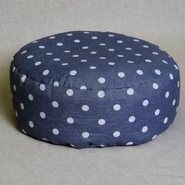 Pohankový meditační sedák 30 x 10 cm šedý puntík