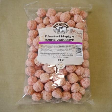 Pohánkové chrumky jahodové 80 g