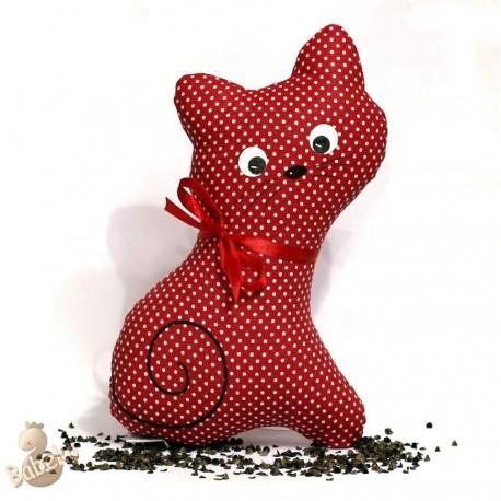 Pohanková kočička červený puntík