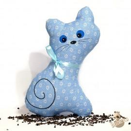 Pohanková kočička modrý květ