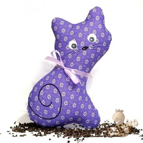 Pohanková kočička fialový květ