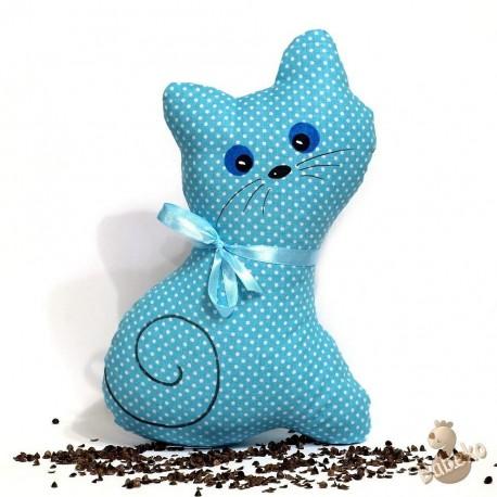 Pohanková kočička tyrkysový puntík