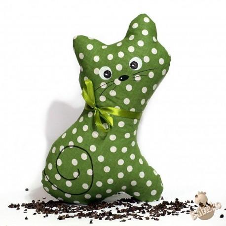 Pohanková kočička zelený puntík