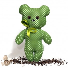 Pohankový medvídek zelený puntík