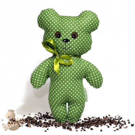 Pohánkový medvedík zelený puntík