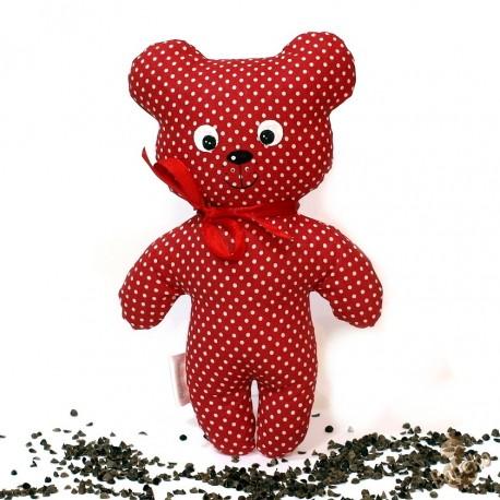 Pohankový medvídek červený puntík