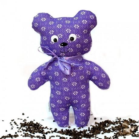 Pohankový medvídek fialový květ