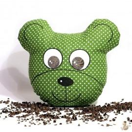 Pohankový míša hlavička zelený puntík