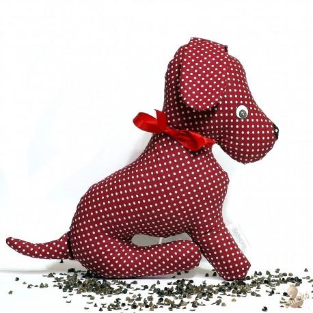 Pohánkový psík bordó puntík
