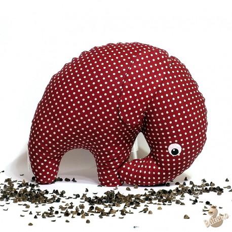 Pohankový sloník bordó puntík